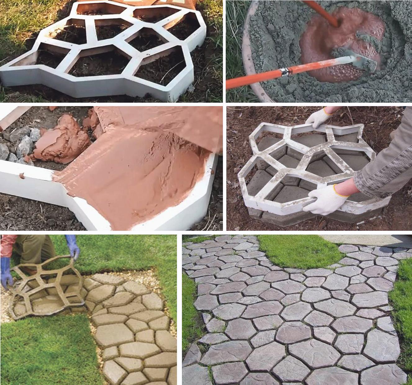 Изготовление бетонной дорожки своими руками